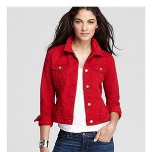 J Brand Red Denim Jacket